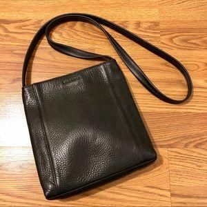 Nine West Black Pebbled Leather Shoulder Bag